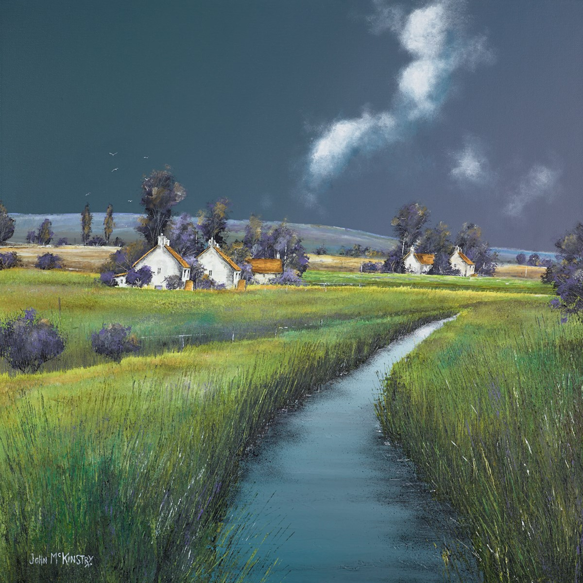 Lowlands by John Mckinstry -  sized 24x24 inches. Available from Whitewall Galleries